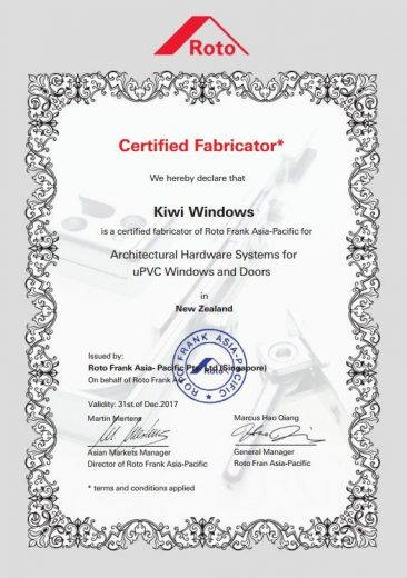 Roto certificate