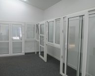 upvc windows in our showroom